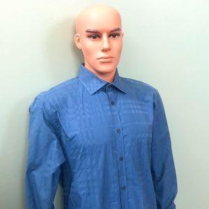 Burberry Men's Blue Shirt Sz 16.5-42 Authentic COA